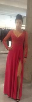 Платье розовое с гипюром Meher&Riddhima A1558 Image 0