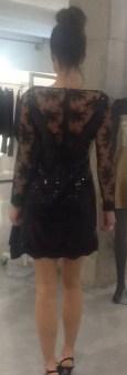 Платье черное с гипюром Meher&Riddhima A1565 Image 1