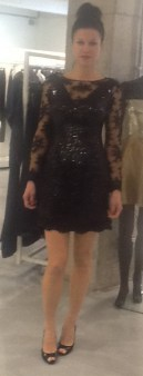 Платье черное с гипюром Meher&Riddhima A1565 Image 0