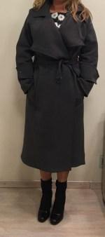 Пальто серое Malloni 10114-00 Image 1