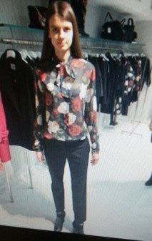 Рубашка с розами Blugirl Blumarine арт.2360 Image 0