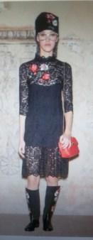 Шапка с цветком черная Blugirl Blumarine арт.44029 Image 1