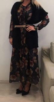 Платье коричневое в цветы ANONYME арт.U27FD024 Image 1