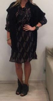 Платье черное с бантом ANONYME арт.R17FD056 Image 1