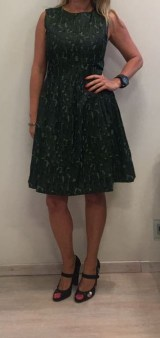Платье-сарафан зеленое ANONYME арт.U37FD010 Image 1