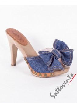 Сабо синие  джинсовые  Valentino Red 0.82 Image 4