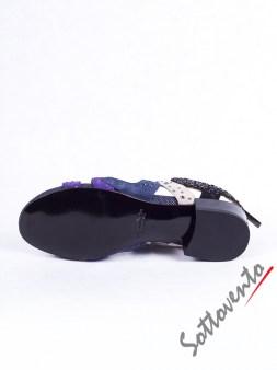 Шлепки сине-фиолетовые с блёстками Richmond 2705 Image 5