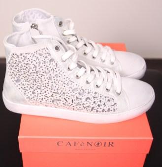 Кроссовки белые с блёстками CAFeNOIR Eg612 Image 1