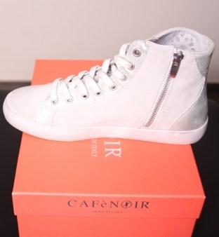 Кроссовки белые с блёстками CAFeNOIR Eg612 Image 2